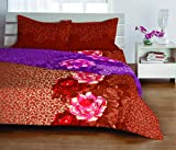Welhome Luxury Cotton Double Bedsheet with 2 Pillow Covers - Brown
