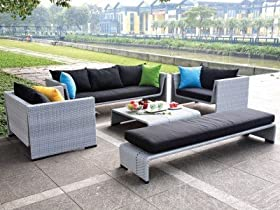 Great TOSH Furniture Outdoor Gray Sofa Set Outdoor And Patio Furniture Sets price