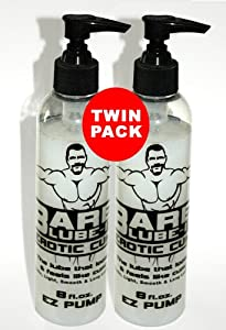 BARE LUBE-IT, Water Based Personal Lubricant, 8 oz E-Z Pump Bottle - TWIN PACK