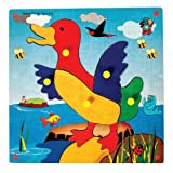Skillofun Skillofun Theme Puzzle Standard Duckling Knobs Multi Color