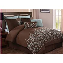 Luxury Home 8-Piece Leaves Comforter Set