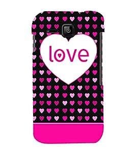 Love Hearts 3D Hard Polycarbonate Designer Back Case Cover for Micromax Bolt S301