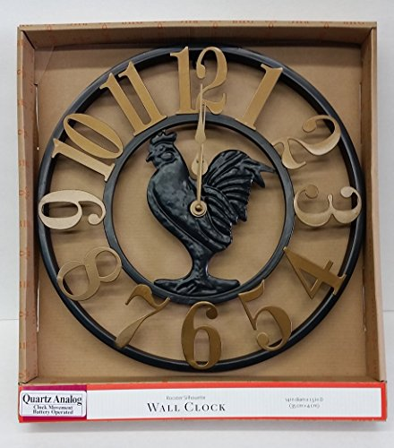 Bhg- Rooster Silhouette Wall Clock - 14 Inches