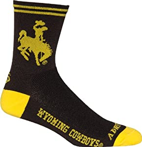Buy NCAA Wyoming Cowboys Cycling Running Socks by Adrenaline Promotions