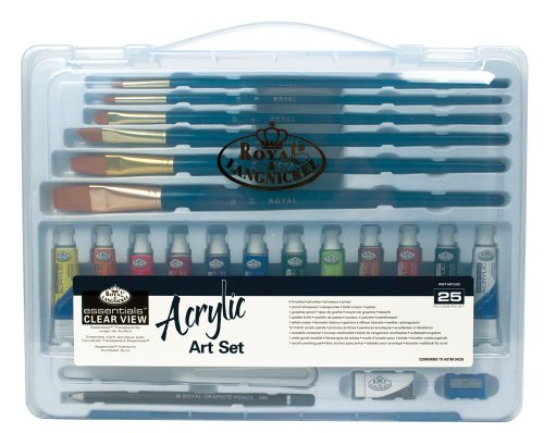 Royal & Langnickel Essentials Clear View Acrylic Painting Set, Large