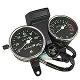スズキ GN125 電気式 スピード メーター 黒 ブラック 速度計