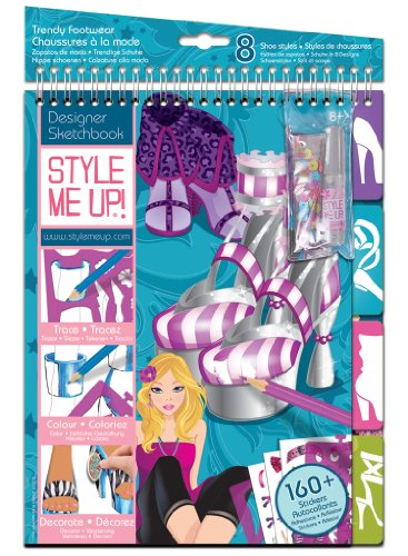 Style Me Up Medium Sketch Book - Trendy Footwear