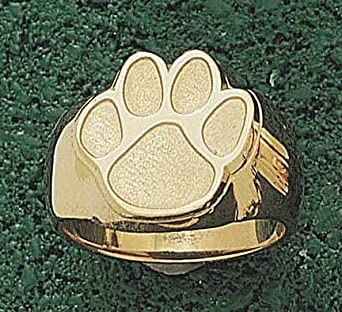 Clemson Tigers Paw 5 8 Mens Ring Size 10 1 2 - 14KT Gold Jewelry by Logo Art