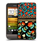 Head Case Designs Leopard Floral Pattern Mix Protective Snap-on Hard Back Case Cover for HTC One V