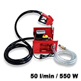 Self Priming Bio Fuel Oil Diesel 230V/550W 50l/min Transfer Pump H/D Portalbe