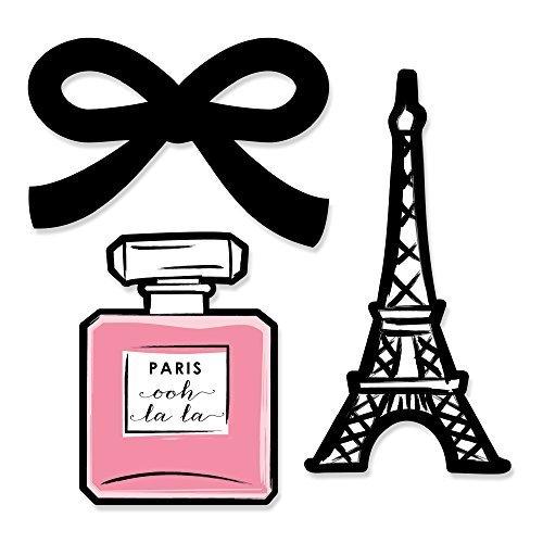 Paris, Ooh La La - Shaped DIY Party Small Cut-Outs - 24 Count
