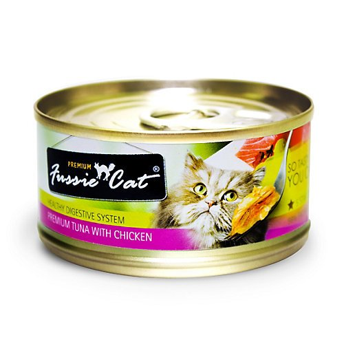 Fussie Cat Premium Tuna/Chicken Can Cat Food 24 Pk
