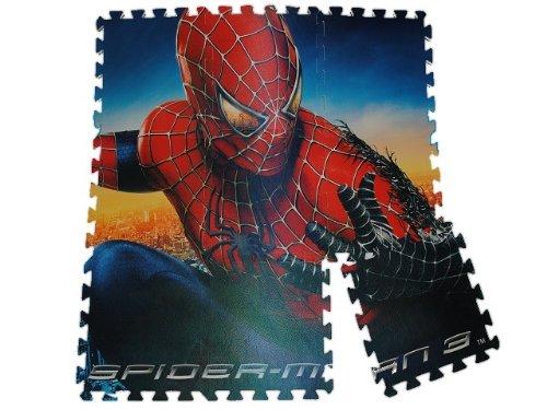 PUZZLETEPPICH Spiderman 1 qm PUZZLE TEPPICH SPIELTEPPICH PUZZLEMATTE MOOSGUMMI