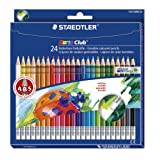 Staedtler Noris Club Erasable Colouring Pencils 144 50NC24 Asst Pack 24by Staedtler
