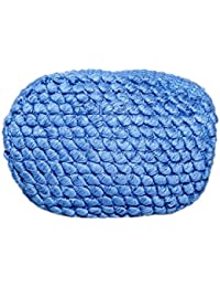 Diwaah Beautifully Handcrafted Rug Zip Top Cotton Blue Color Rug Zip Top With Zip (DWH000000836)