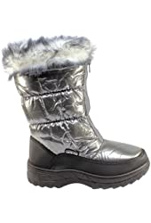 Womens Winter Snow Boots Quilted Waterproof Fur Lined