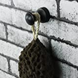 Oil Rubbed Bronze Finish Mini Robe Hook Wall Mounted Screwed Bathroom Shower and Bath Sponge Hooks Coat Hanger Hooks