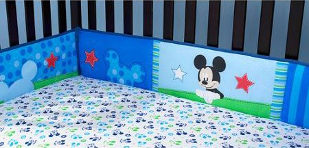 Disney Baby Mickey Mouse Best Friends Crib Bumper - 1