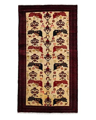 Darya Rugs Persian One-of-a-Kind Rug, Red, 3' 5 x 6'