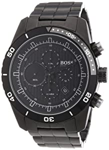 Hugo Boss Mens Black PVD Stainless Steel Watch