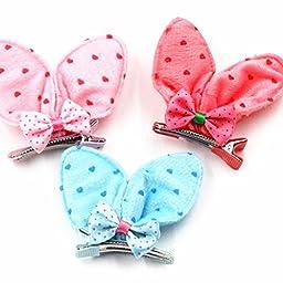 Baby Kids Girls Hair Clips Ears Hairpin Hair Bow Hair Accessories