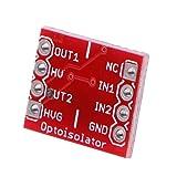 arduino用 オプトアイソレータ フォトカプラ用 赤 2チャンネル 2ピンヘッダ モジュール