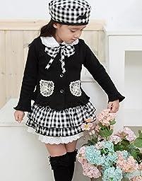 Baby Leonardo Baby Girls 3pcs Long Sleeve Clothing Sets Outfit Black 12M-18M