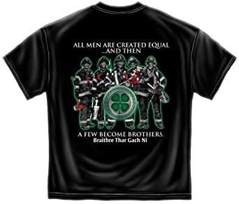 Firefighter Irish Brotherhood Braithre Thar Gach Ni Fireman T-Shirt