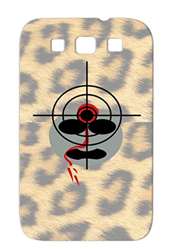 Skid-Proof Telescope Smily Stickman Deadly Line Little Man Funny Smilie Purpose Cross Comic Provocative Menalive Smile Amusingly Murder Die Funny Head Strichmann Crosshair Corpse Rip Comix Target Blood Cartoon Headshot Tpu For Sumsang Galaxy S3 Gray Case
