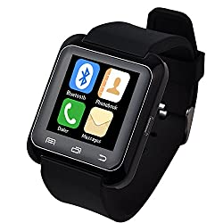 5IVE U80 Bluetooth 4.0 Smart Wrist Wrap Watch Phone for Smartphones IOS Android Apple iphone 5/5C/5S/6/6 Puls Android Samsung S3/S4/S5 Note 2/Note 3 Note 4 HTC Sony (Black)