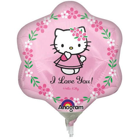 Hello Kitty I Love You Mini Shape Anagram Balloons