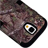 "myLife Black - Brown Tree Camouflage Design (3 Piece Hybrid) Hard and Soft Case for the Samsung Galaxy S4 ""Fits... by myLife Brand Products"