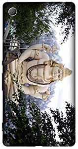 Timpax Light Weight One-piece construction Hard Back Case Cover Printed Design : Shiva God .100% Compatible with Sony Xperia Z-3