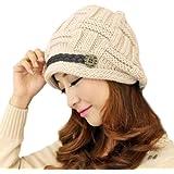 Béret Femme Chapeau Fille Hiver Chaud Tricotage Crochet Bonnet