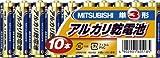 三菱(MITSUBISHI)アルカリ乾電池単3型×10本 LR6N/10S