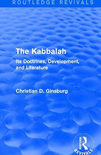 La Kabbale (Routledge Revivals): Ses Doctrines, développement et la littérature