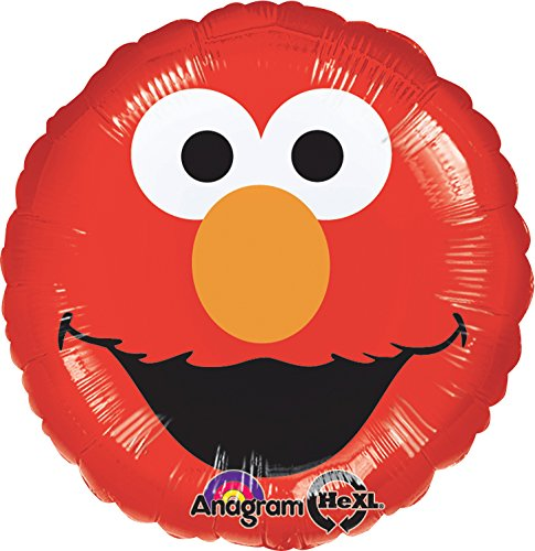 Anagram International Elmo Smiles Foil Balloon Pack, Multicolor