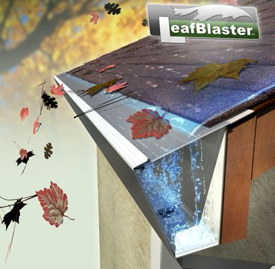 LeafBlaster Micro Mesh Rain Gutter Guard. Stainless steel gutter cover shields out debris. 100 Feet, fits 5 inch gutter.