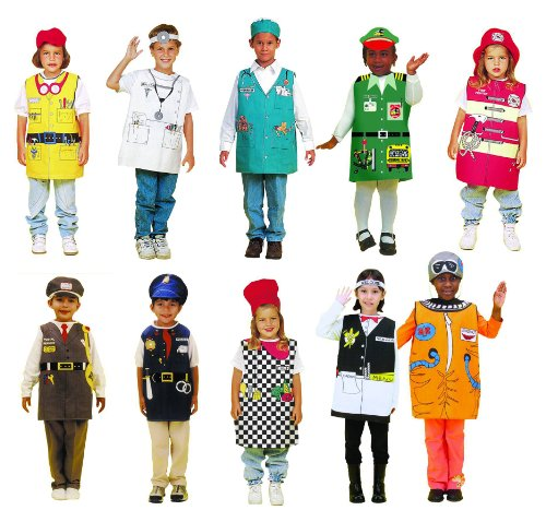 Childcraft Occupations Costumes With Hats For Children (Set Of 10) front-138386
