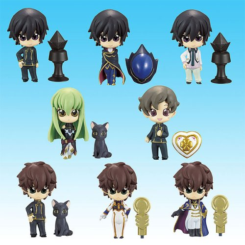 Code Geass PPP Prop Plus Petit 10 figure Gashapon set