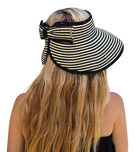 9629225f5 Kooringal Ladies Visor Roll Up Bella /Womens Sun Visor / Beach Visor One  Size Fits Most (Black)