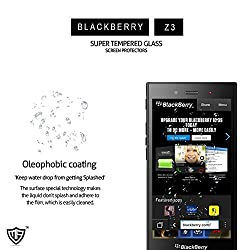 MoArmouz® - Super Tempered Glass Screen Protector for Blackberry Z3 Screen Guard 9H Hardness Toughened Crystal Clear Tempered Glass Screen Guard / Screen Protector / Screen Glass / HD /9H Hardness 3D Touch Compatible / Mobile Accessories / Screen Protectors