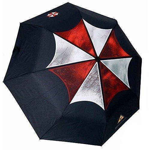 MyLifeUNIT Resident Evil Umbrella Corporation Ombrello Pieghevole Automatico Compatto