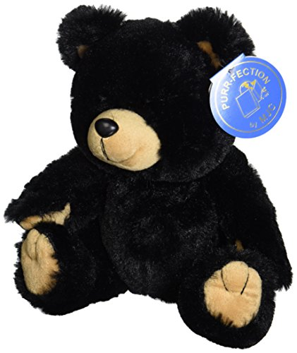 "Purr-Fection Tender Friend Black Bear 12"" Plush"