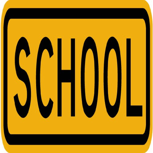Street & Traffic Sign Wall Decals - School Word Sign - 24 Inch Removable Graphic front-1076363