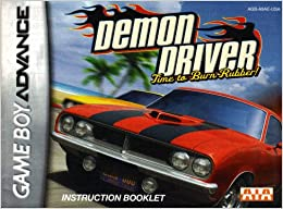 Demon Driver - Time to Burn Rubber GBA Instruction Booklet