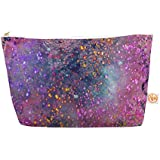 Kess InHouse Everything Bag, Tapered Pouch, Marianna Tankelevich Pink Universe Pink Purple, 8.5 X 4 Inches (MT1021AEP03)
