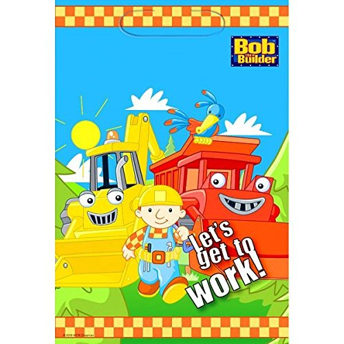 "Amscan Bob The Builder Birthday Party Lootbags, 9 x 6-1/2"", Multi - 1"