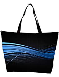 Snoogg Abstract Blue Design Designer Waterproof Bag Made Of High Strength Nylon