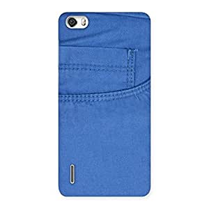 Cute Blue Jeans Back Case Cover for Honor 6